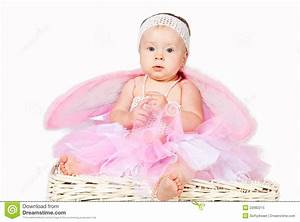 Cute Infant Baby Girl Thinking Isolated Royalty Free Stock ...