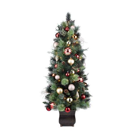 Artificial Pine Trees Decorative by Shop Holiday Living 4 5 Ft Indoor Outdoor Pine Pre Lit
