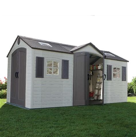lifetime 15x8 dual entry shed 60079
