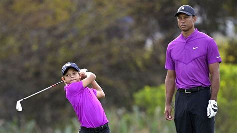Tiger Woods son Charlie Woods wows crowd in TV debut