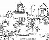 Coloring Medieval Drawing Ages Castle Middle Fort Moat Printable Dark Tower Water Dragon Saxon Monster Portcullis Invading Powerful Yarn Flying sketch template