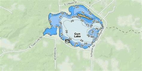 gun lake fishing map usmi nautical charts app