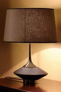 Abat Jour Taupe : lampe vuvu wood ch ne teint weng fonc et abat jour taupe r f 13060135 ~ Teatrodelosmanantiales.com Idées de Décoration