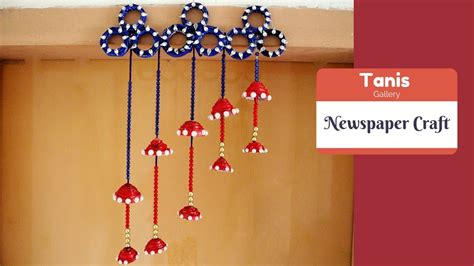 how to make hanging l with paper wall hanging newspaper craft ideas how to make wall