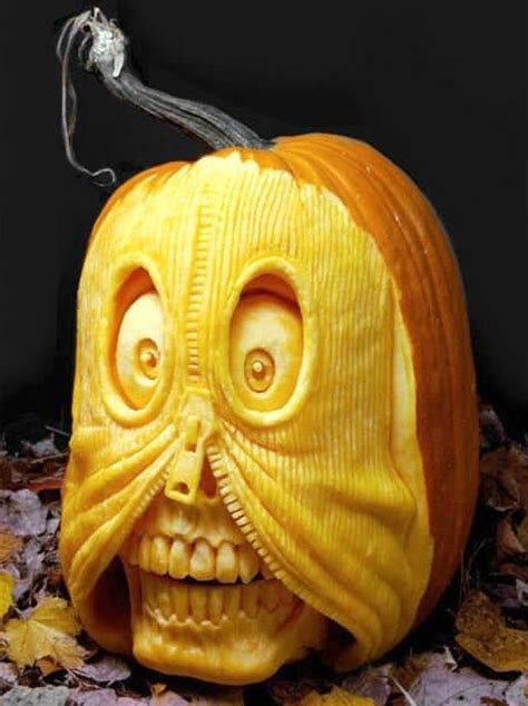scary halloween pumpkin carvings steamy kitchen recipes