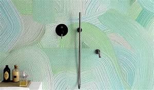 Tapisserie Fibre De Verre : le papier peint dans la salle de bains c est possible ~ Dailycaller-alerts.com Idées de Décoration