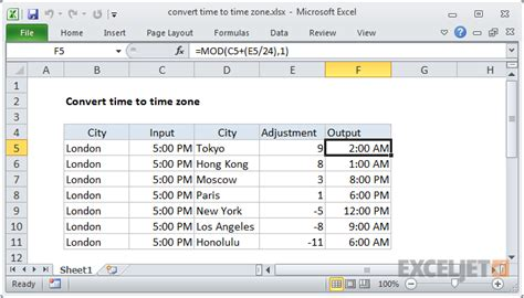 convert time time zone