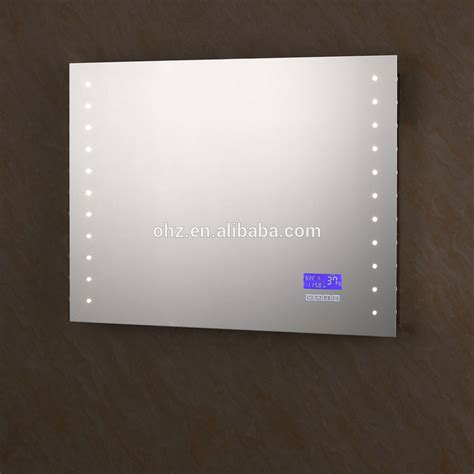 horloge ventouse salle de bain 2016 vente chaude salle de bains mur miroirs avec led horloge temp 233 rature radio bluetooth