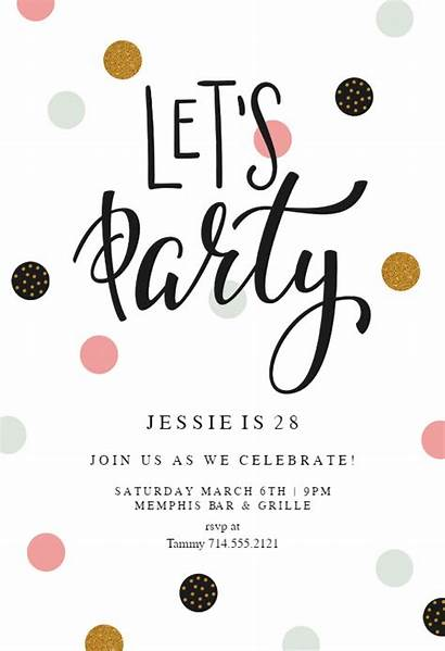Birthday Invitation Party Invitations Templates Lets Graduation