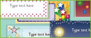 Early Learning Resources Editable Star Labels