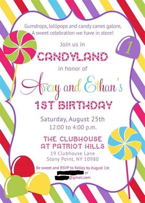 15+ Best Ideas About Candy Invitations On Pinterest