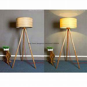 modern wooden three legged floor lamp light bedroom With 4 legged wooden floor lamp