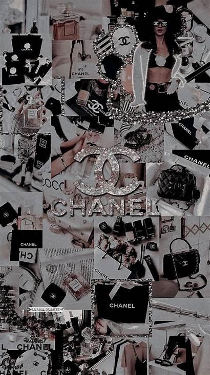 Chanel Aesthetic Lockscreen Iphone Background Bling Purple
