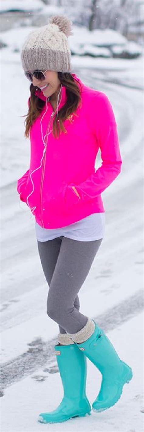 Jacket hot pink track running white tank top dress grey leggings turquoise rain ...