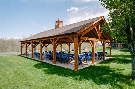 Pavilions: Timber Frame & Vinyl: The Barn Yard & Great