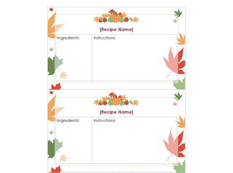 thanksgiving recipe cards printable thanksgiving recipe