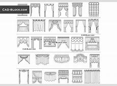 Curtains CAD Blocks free download