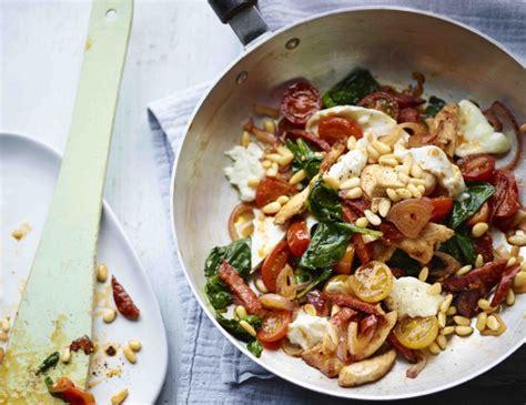 cuisine bosh bosh try this nawwwty cheesy chorizo chicken and spinach