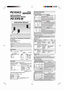 Keyence Pz M User Manual
