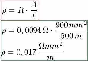Querschnitt Berechnen Formel : spezifischer widerstand ~ Themetempest.com Abrechnung