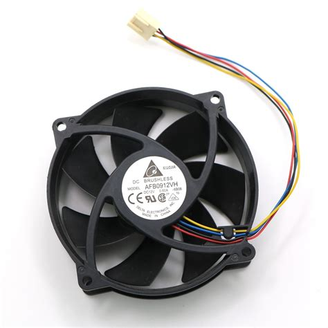 computer cooler fan afb0912vh 12v 0 60a 4 wire 9225 92mm 80x25mm dc brushless pwm cooling fans