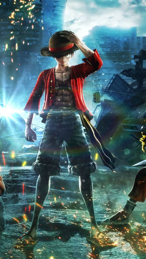 wallpaper jump force   goku naruto luffy