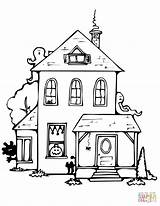 Haunted Coloring Pages Halloween Drawing Printable Houses Spooky Easy Template Getdrawings Roof Flat Mobile Delightful Templates Through Entitlementtrap Supercoloring Categories sketch template
