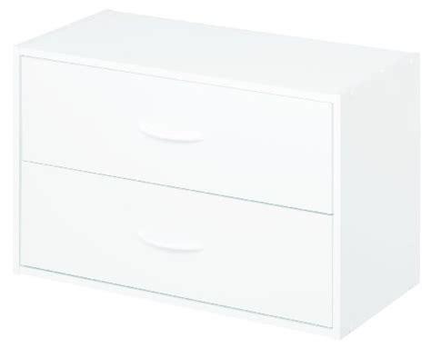 Closetmaid 2 Drawer Organizer White - plastic storage drawers on wheels plastic storage