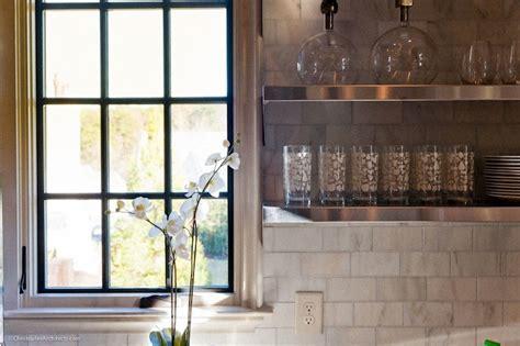 Floating Stainless Steel Shelves Kitchen   Modern