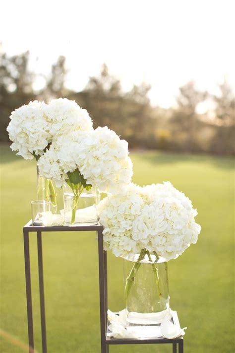 white hydrangea wedding decor vineyard wedding  flower