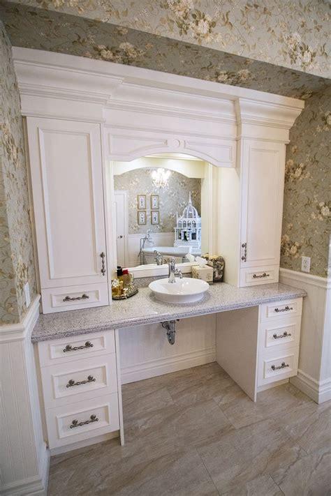 custom built bathroom vanity  storage wheelchair