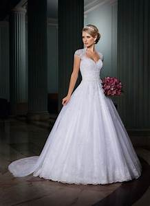 2015 Wedding Dresses with Cap Sleeves Backless Wedding ...