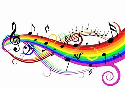 Colorful Clipart Notes Google Musical Musik Background