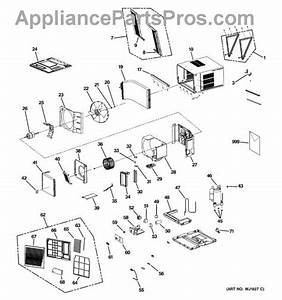 Parts For Ge Aee18dkm1  Room Air Conditioner Parts