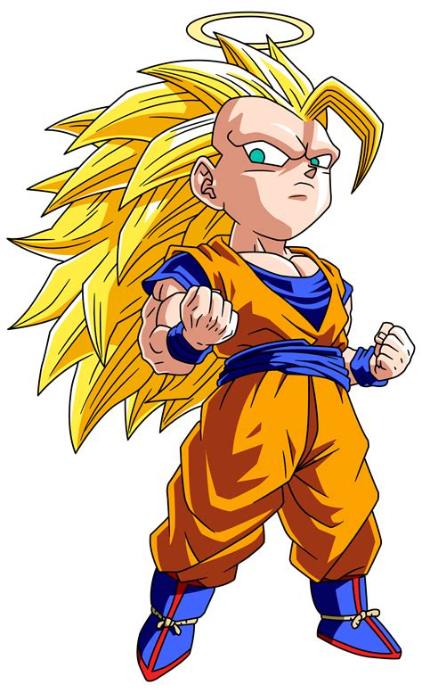 Cute Little Super Saiyan 3 Goku