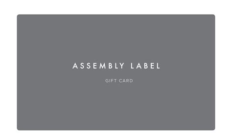 Issue virtual and physical branded cards that will fit your business requirements. Assembly Label Gift Cards   Assembly Label