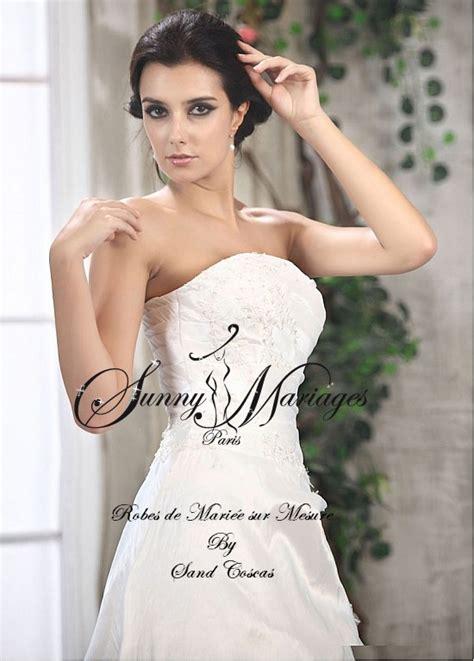 robes de mariee taffetas bustier dentelle sunny mariage