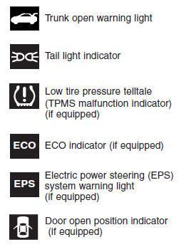 2016 hyundai elantra warning lights hyundai elantra indicator symbols on the instrument