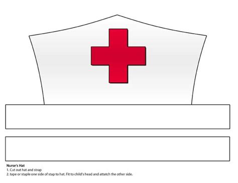 nurse hat craft for preschoolers digital paper s hat printable 863