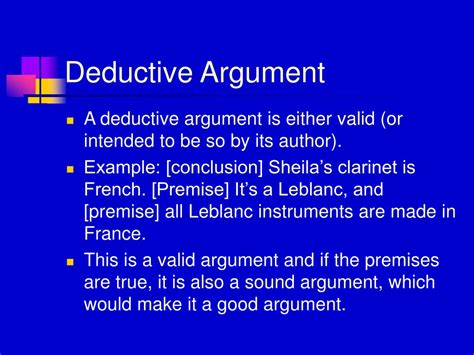 argument deductive sound thinking presentation powerpoint critical chapter valid example premise premises true conclusion ppt toxic slideserve