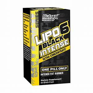Nutrex Lipo-6 Black Intense Ultra Concentrate - Weight Loss Pills