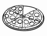 Pizza Pepperoni Dibujos Colorear Colorare Coloring Coloriage Pintar Colorier Dibujo Lasagna Disegni Disegno Fast Comida Pasta Imagenes Fracciones Fideo Coloritou sketch template