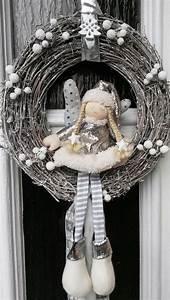 Türkranz Winter Modern : weihnachtskranz t rkranz deko adventskranz tilda art kranz weiss shabby chic papierowa ~ Whattoseeinmadrid.com Haus und Dekorationen