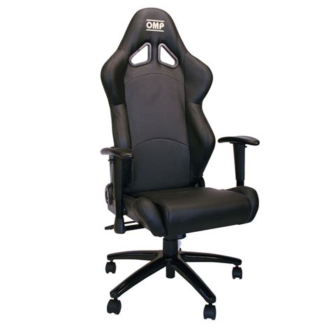 omp black silver racing seat office chair gsm sport seats