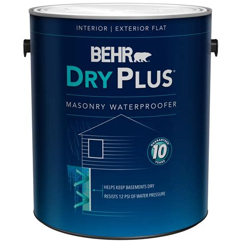 behr 1 gal 875 white basement and masonry waterproofer 87501 the home depot