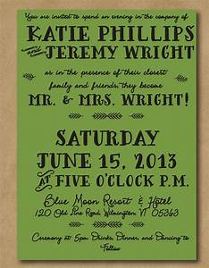 informal wedding invitation wording from bride and groom With funny second wedding invitations
