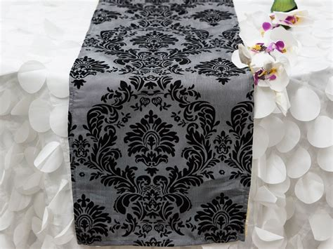 30 Pcs Flocking Table Runners 12x108