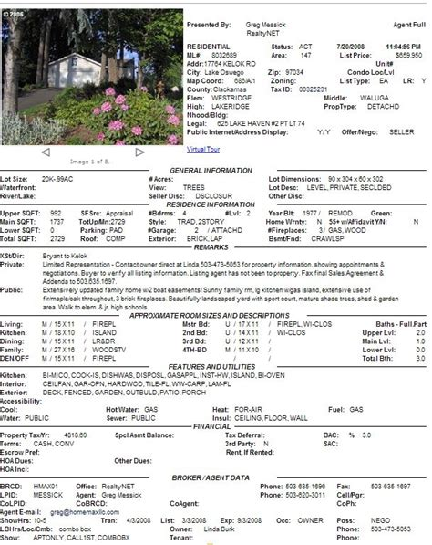 real estate listing sheet template 28 images it