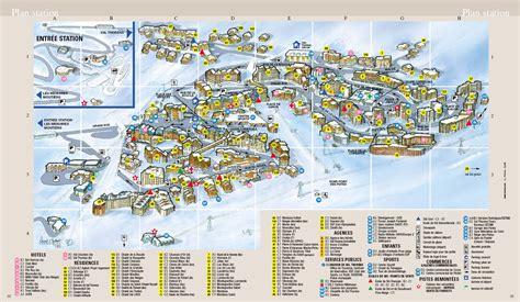plan de la station de ski val thorens