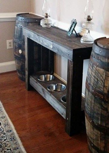 Pet Food Cabinet With Bowls by Pet Feeding Stand And Console Tables With 18 Quot Drawer And